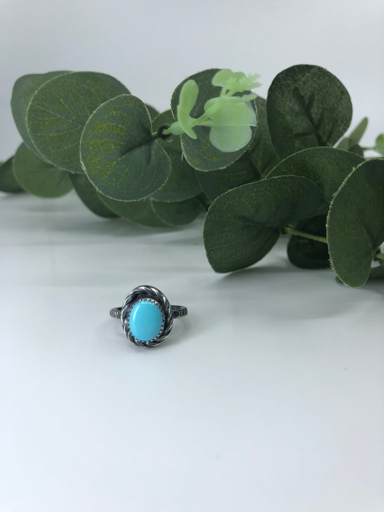 Sleeping Beauty Turquoise Stacking Ring - Size 5