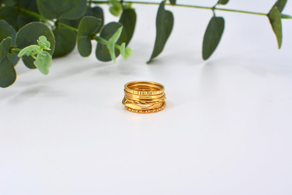 One Customizable Gold Vermeil Stacking Ring