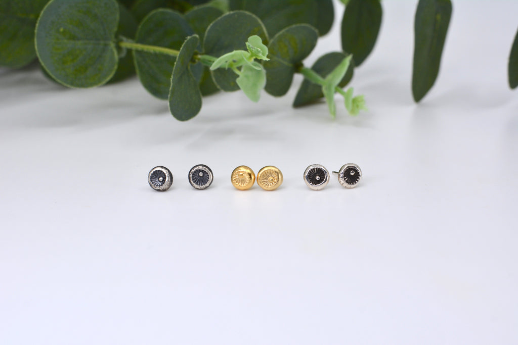 Full Circle Stud Earrings