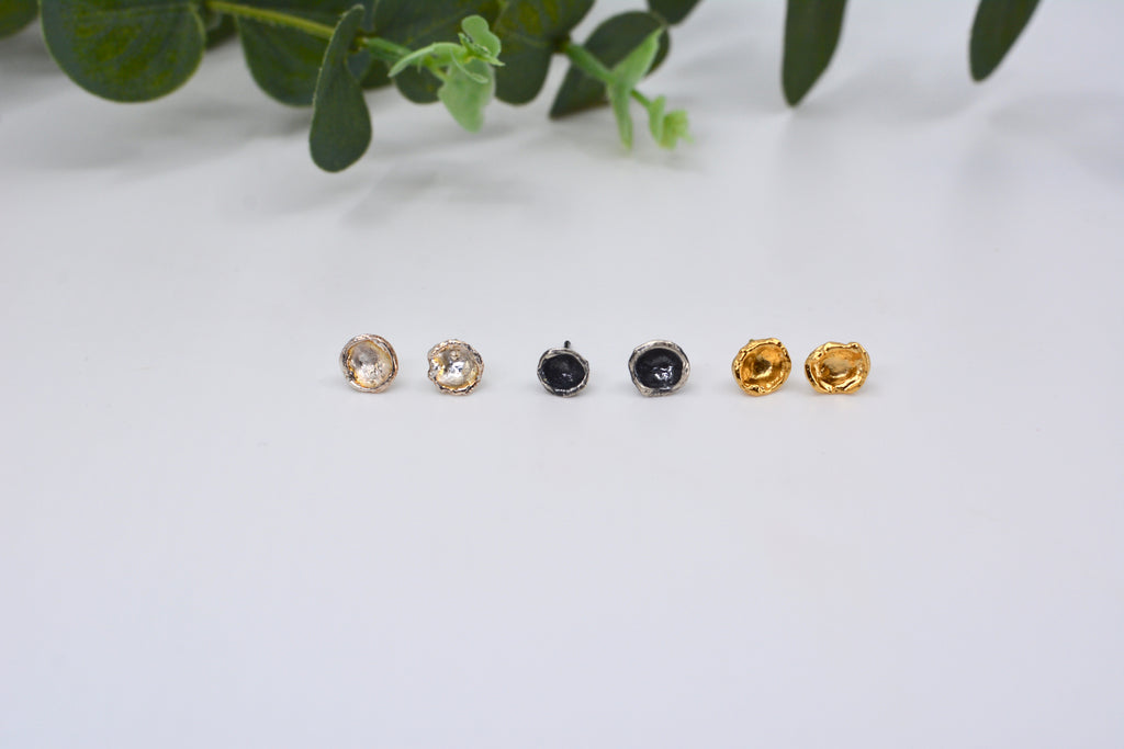 Water Cast Stud Earrings