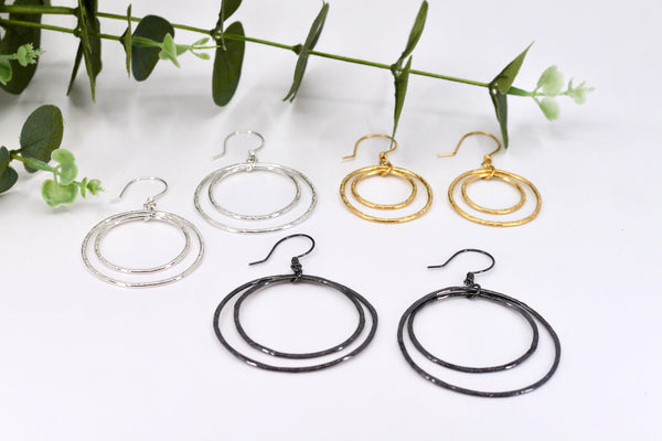 Smashed Hoop Earrings