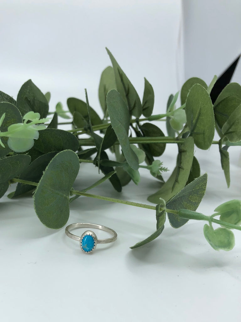 Chinese Turquoise Stacking Ring - Size 9