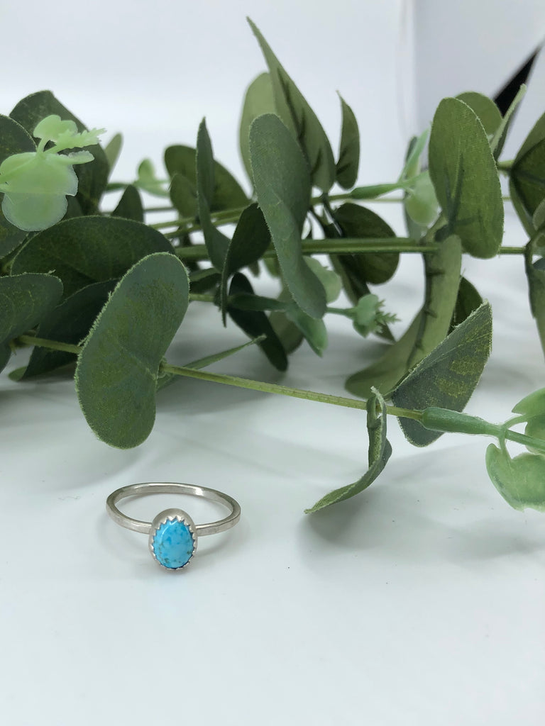 Chinese Turquoise Stacking Ring - Size 8