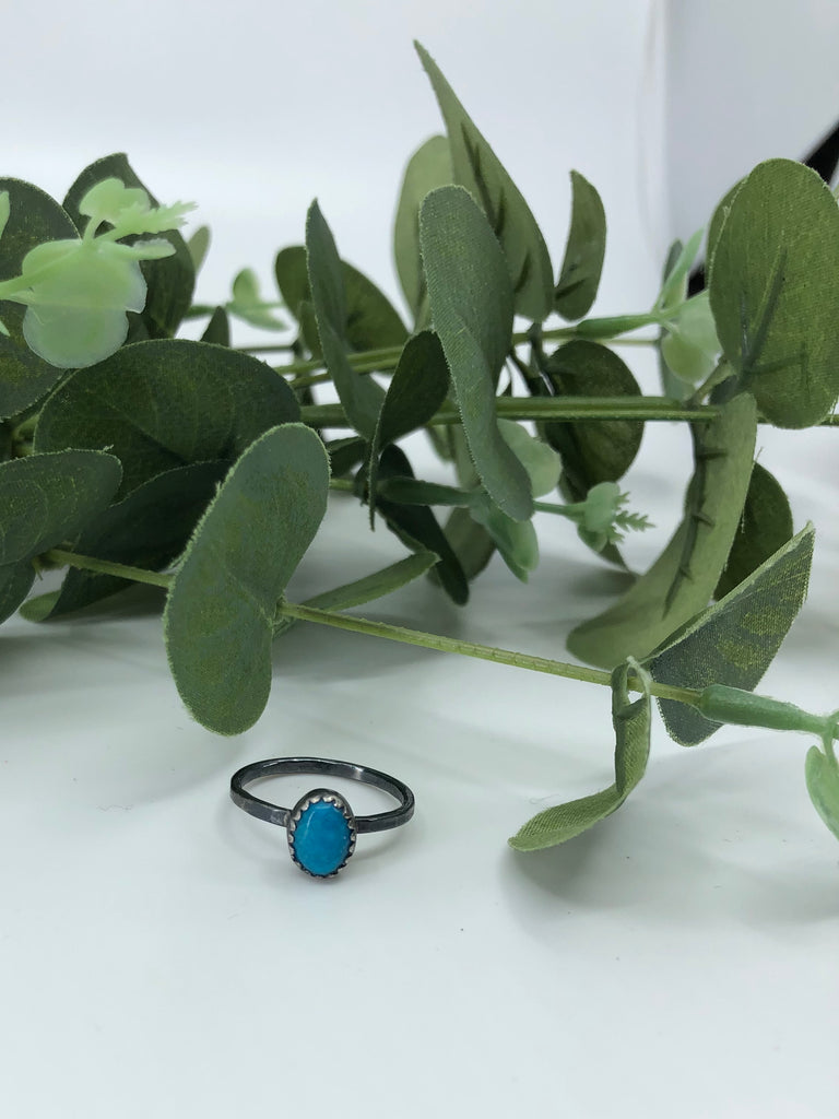 Chinese Turquoise Stacking Ring - Size 6