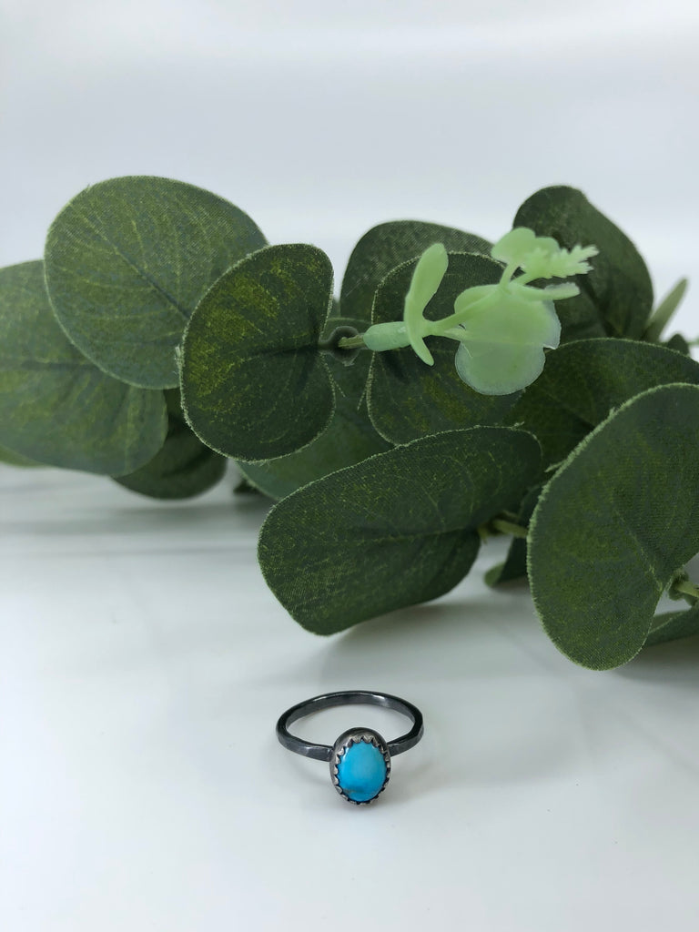 Chinese Turquoise Stacking Ring - Size 5
