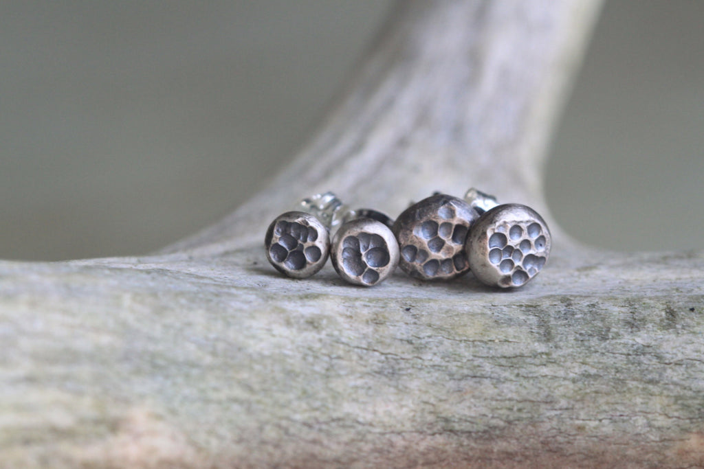 Mini Full Moon Stud Earrings