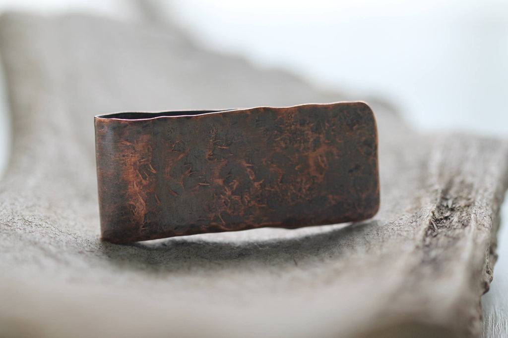 Weathered Copper Money Clip