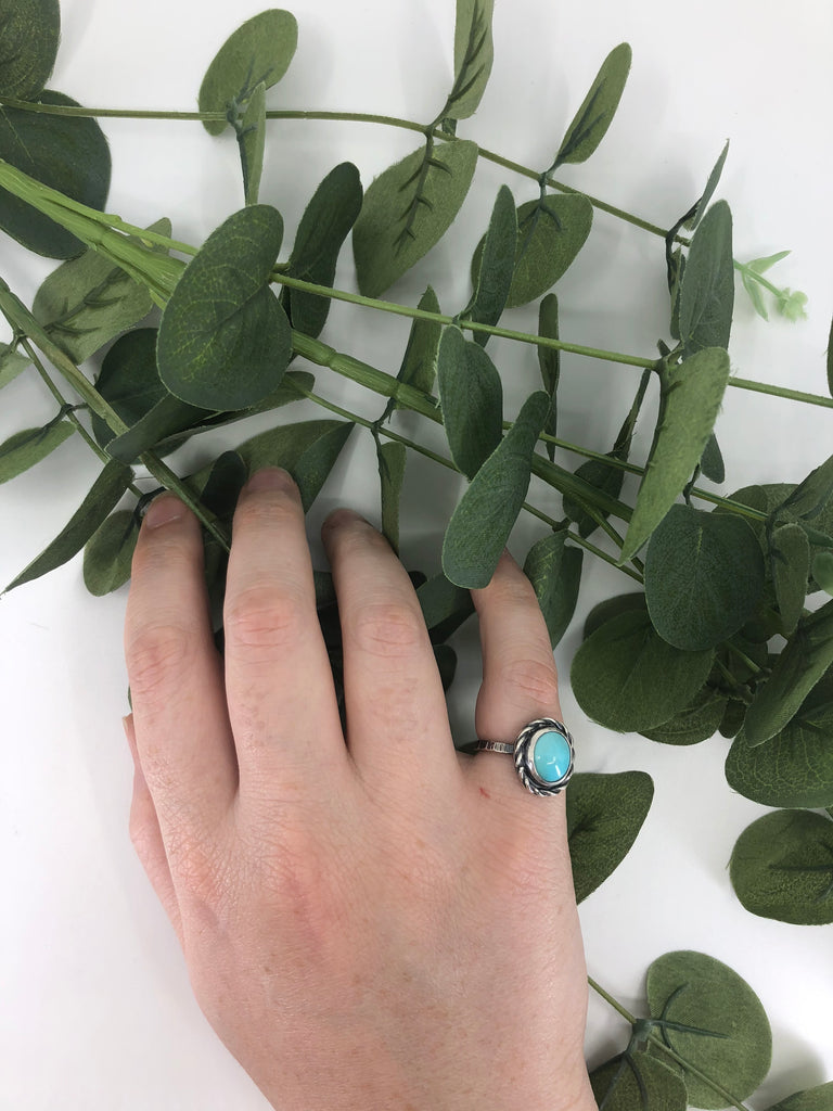 Sleeping Beauty Turquoise Stacking Ring - Size 6