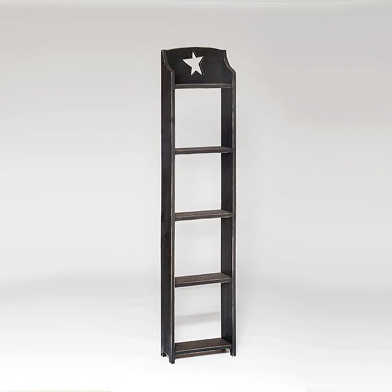 Rustic 5 shelf unit with star knock out