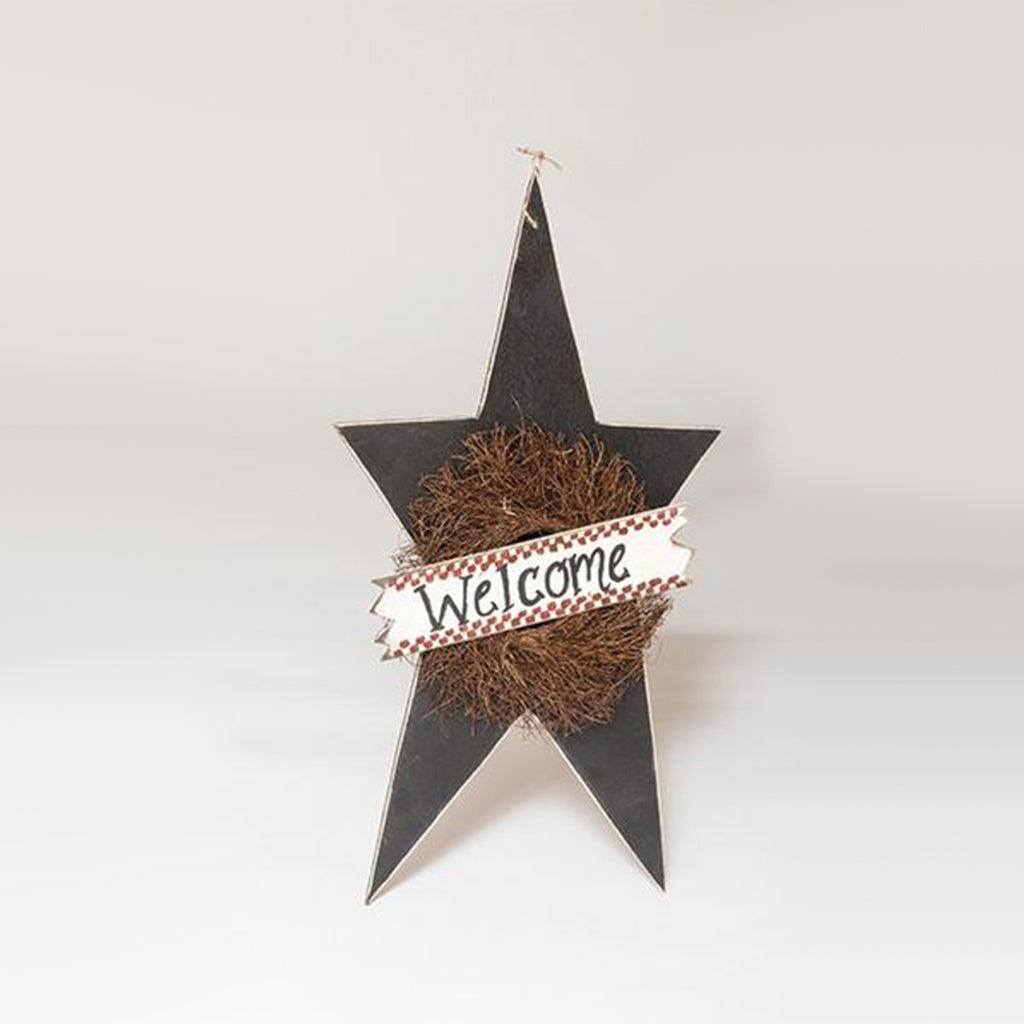 X-LARGE STAR W/ WREATH and WELCOME SIGN