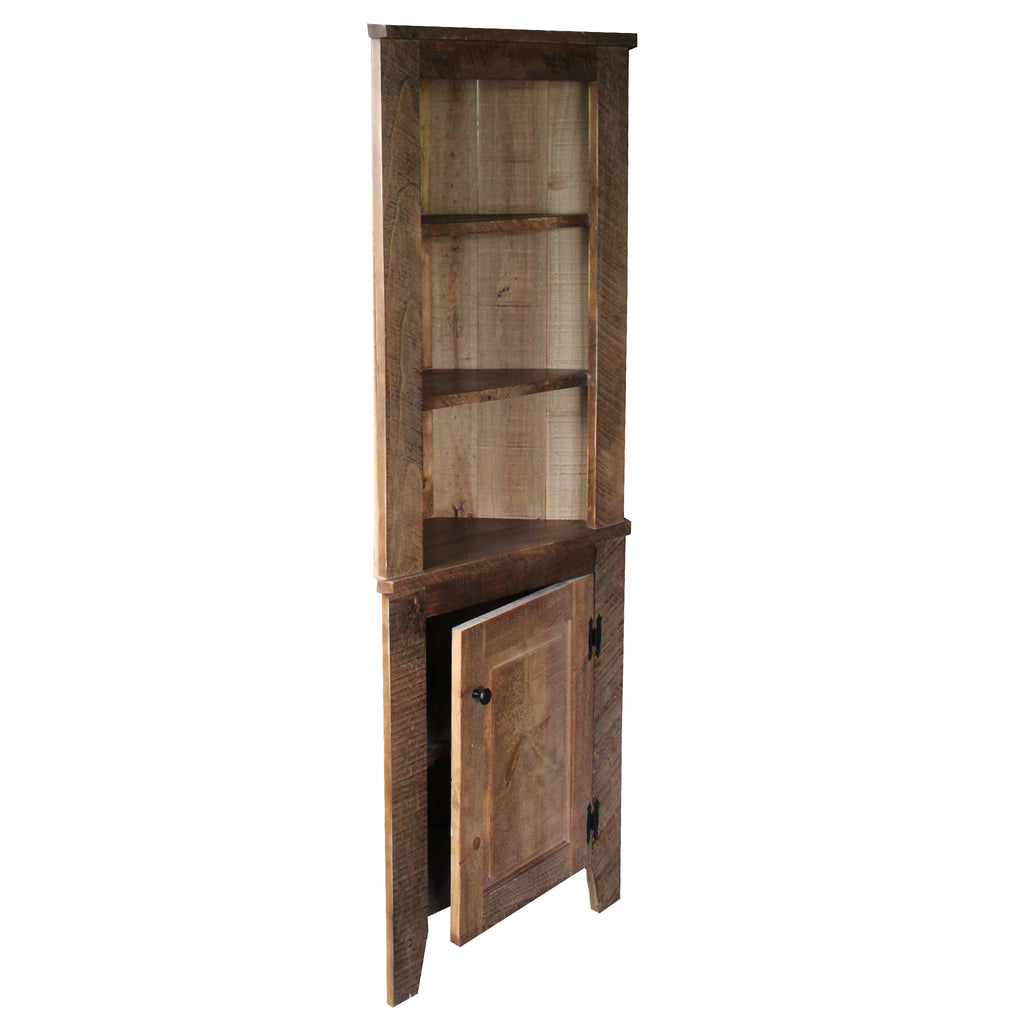 Ebersole Rustic Style  corner cupboard - unfinished