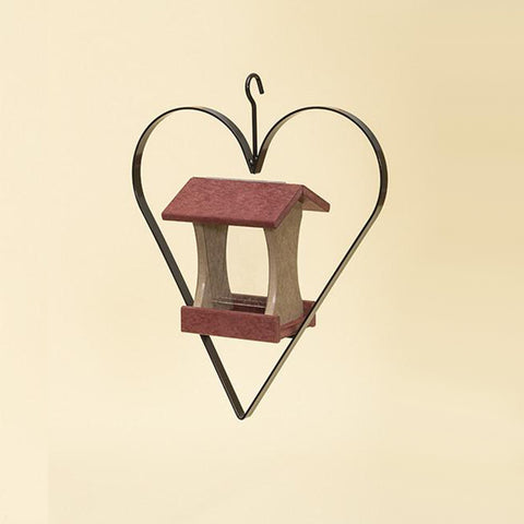 Mini Hanging Bird Feeder with Heart