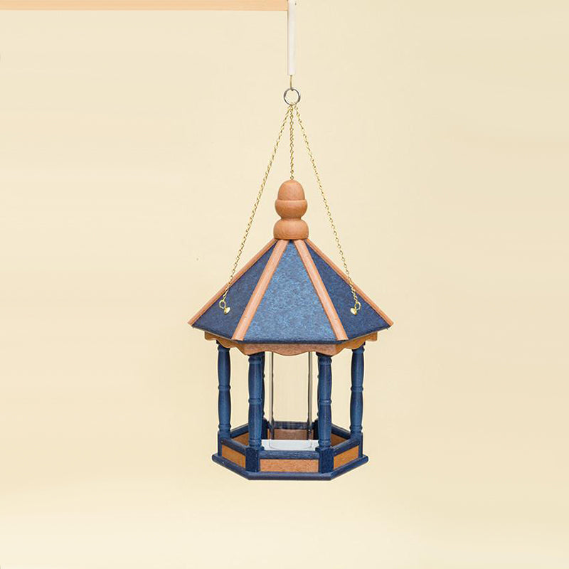 Classic Hanging Hexagon Poly Amish Made Bird Feeder
