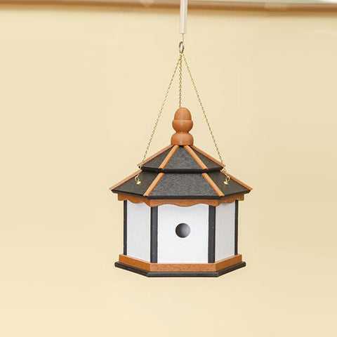 3 Hole Hexagon Hanging Birdhouse