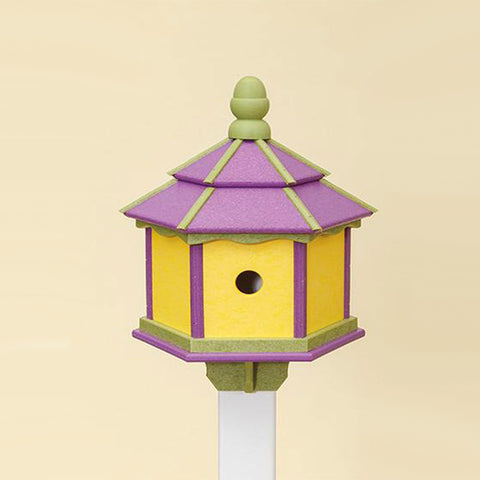 3 Hole Hexagon Recycled Poly Resin Birdhouse