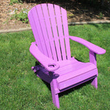 Folding Deluxe Adirondack Chair