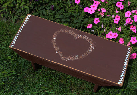 Painted Bench Heart