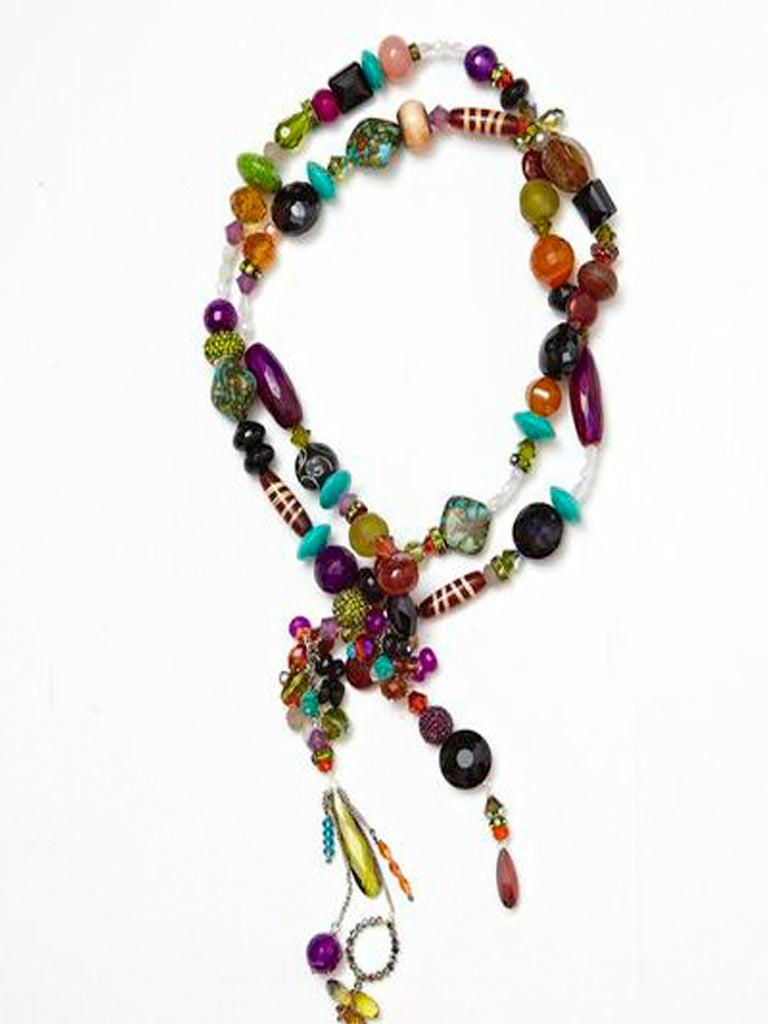 Aztec Chunky Short Lariat Necklace