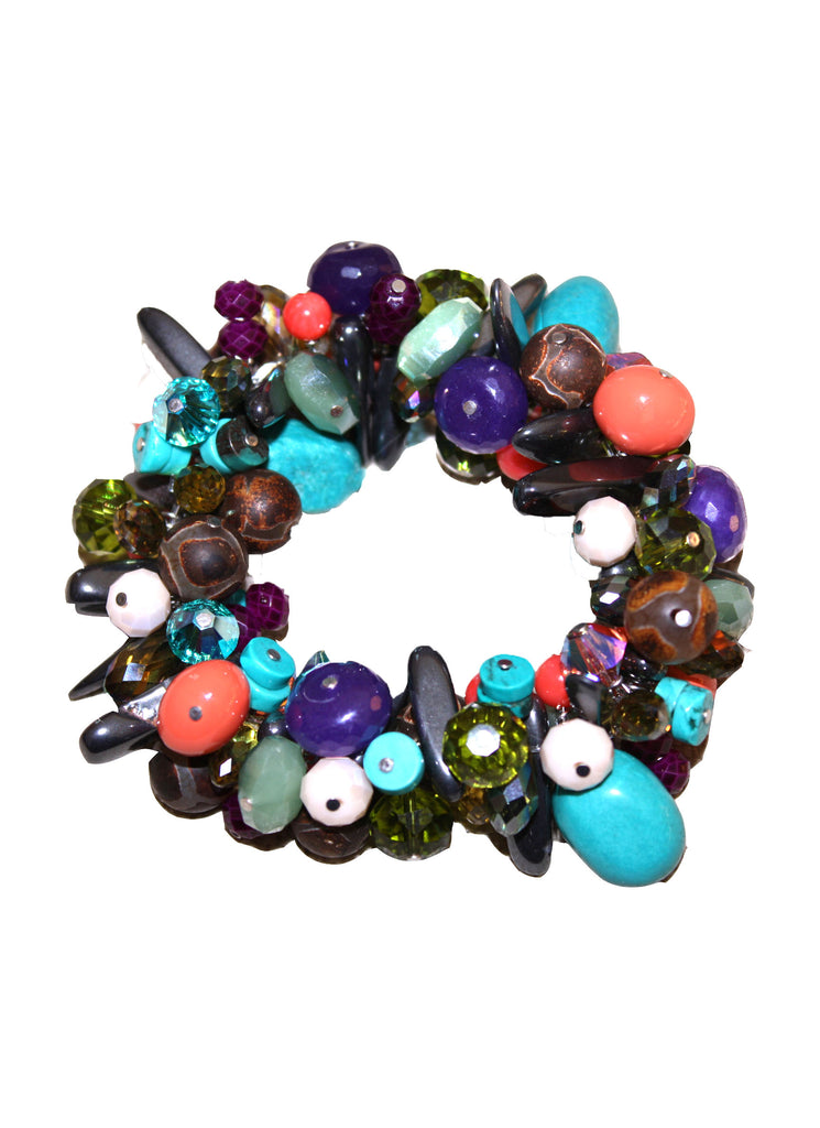 Chunky Roll-On  Bracelet - Bohemia