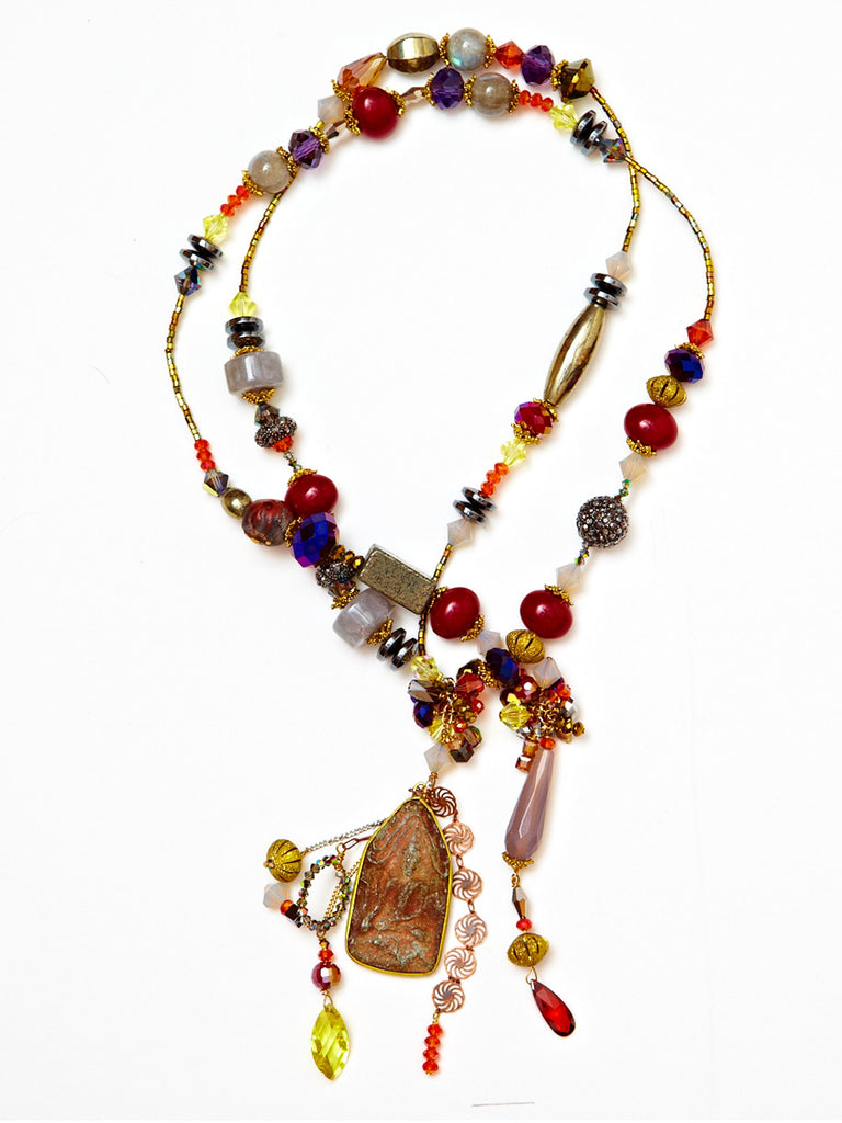 Buddha Short Lariat Necklace
