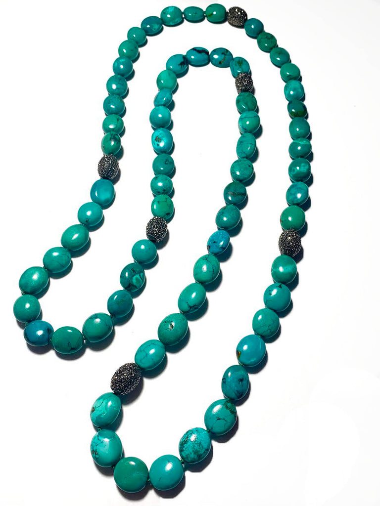 Turquoise & Pave Strand