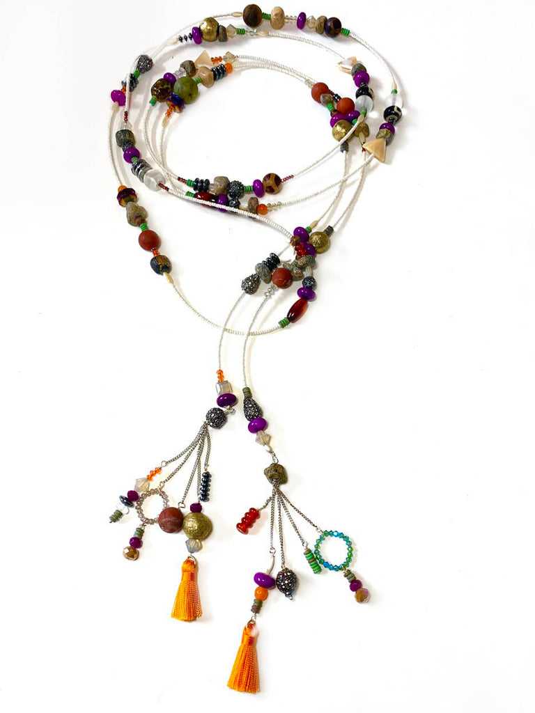 Tribal Rose Long Lariat