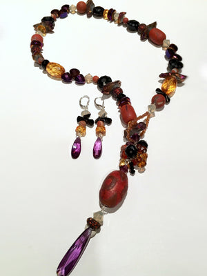 Loop Necklace - Jasper