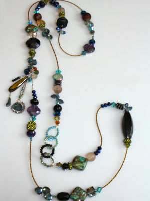 Embellish Strand Necklace - Midnight