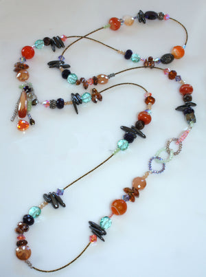 Embellish Strand Necklace - Sunrise