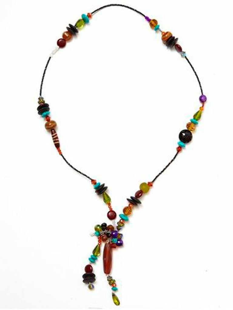Simple Tie Necklace - Aztec