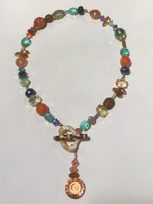 Tribal Toggle Necklace - Sunset
