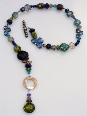 Tribal Toggle Necklace - Midnight