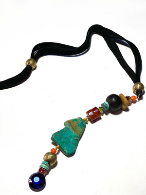 Vertical Tribal Necklace - C