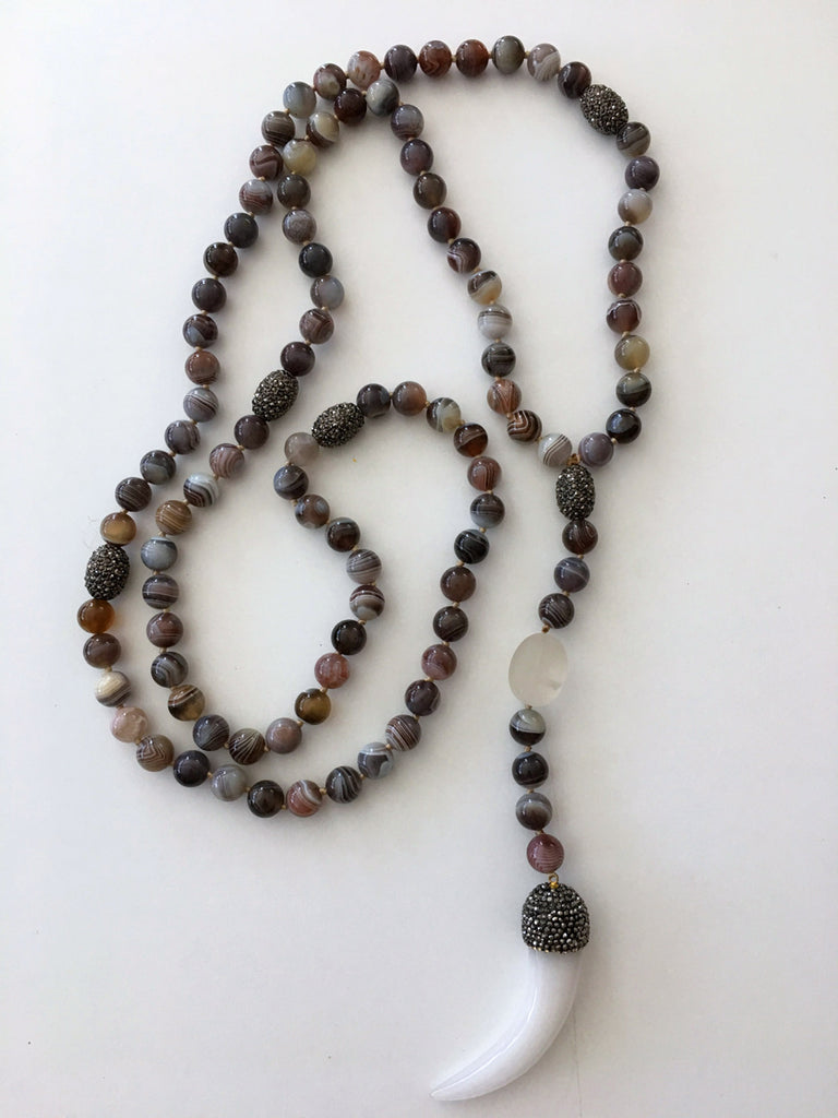 Zen Botswana Agate Necklace
