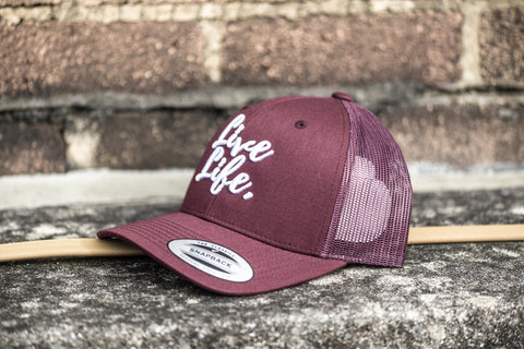 Burgundy Signature Trucker