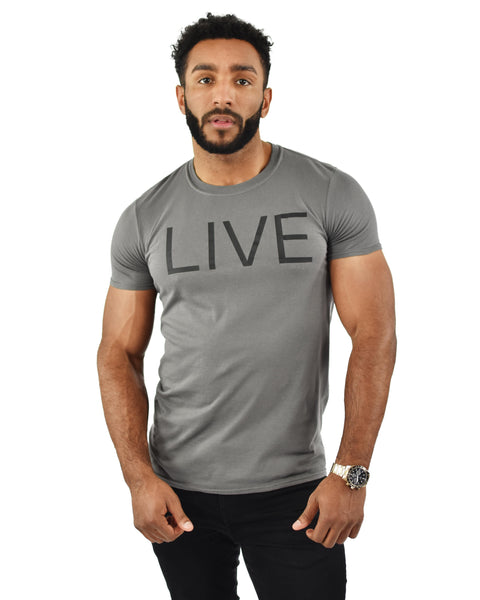Charcoal LIVE Statement T-Shirt
