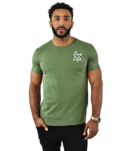 Khaki Signature Small Logo T-Shirt