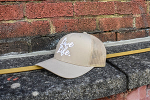 Beige Signature Trucker