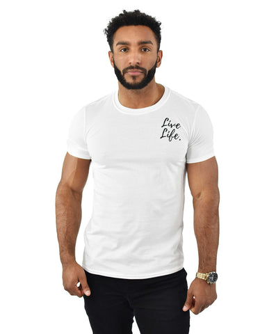 White Signature Small Logo T-Shirt