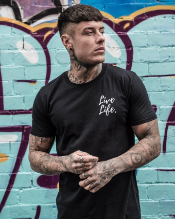 Black Signature Small Logo T-Shirt