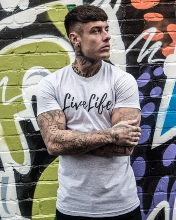 Heather Grey Signature large logo T-Shirt