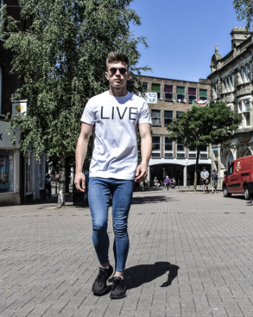 White LIVE Statement T-Shirt