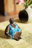 """Mama Blue"" Lost Wax Bronze Sculpture"