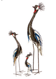 Crowned Crane of Recycled Oil Drum