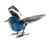 Fluttering Bird of Recycled Metal