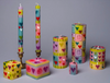 Kapula Hand-Painted Candles - Pastel Hearts