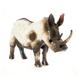 Rhino of Recycled Oil Drum