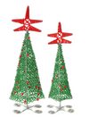 Beaded Wire Christmas Trees