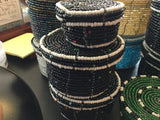 Beaded Wire Lidded Baskets