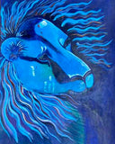 """Lion in Blue"" by Joss Rossiter"